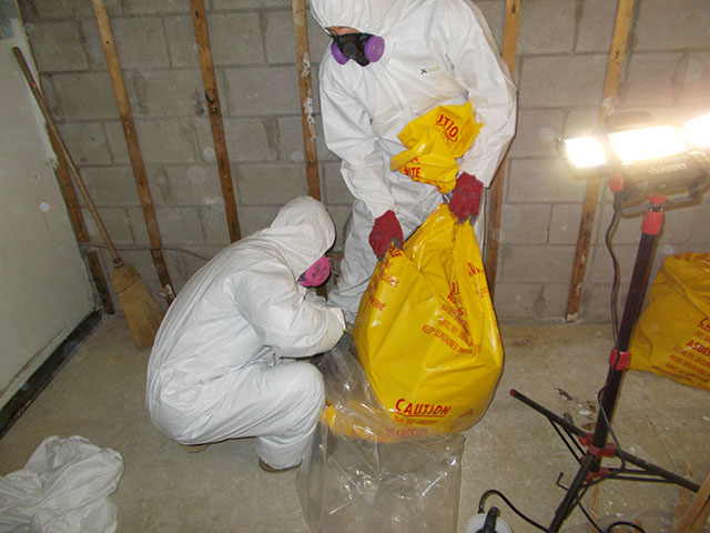 Removing asbestos from home residence