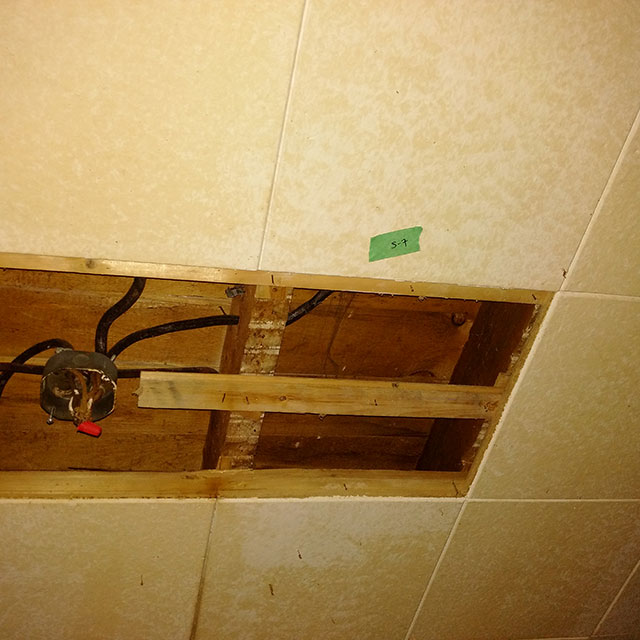 Asbestos ceiling tile testing