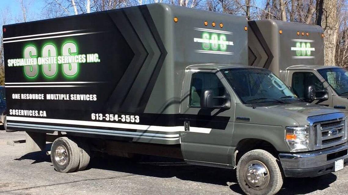 SOS company truck
