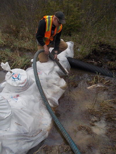 Burlington Oil Spill Response