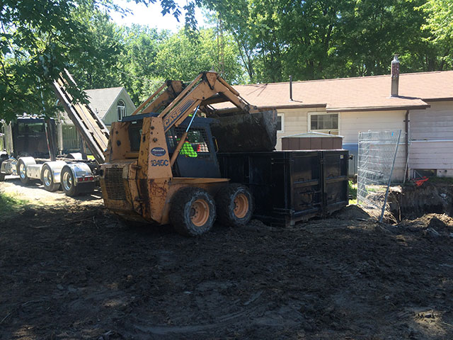Contaminated soil being transferred offsite