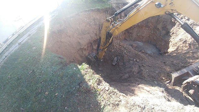 Excavation of soil for remediation